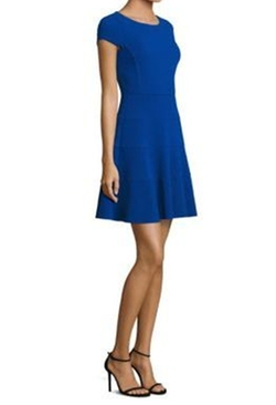Textured Fit-&-Flare Dress by Rebecca Taylor in Jane the Virgin