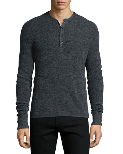 Long Sleeve Henley Shirt by Rag & Bone in Nashville - Season 4 Episode 10