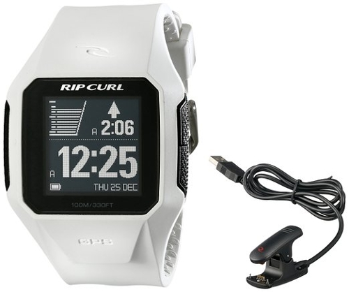 Digital Display Quartz White Watch by Rip Curl in Fast Five