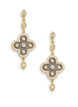 Marquis Clover Drop Earrings by Freida Rothman in Clueless