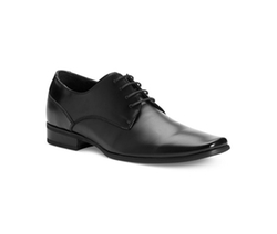 Brodie Leather Oxfords Shoes by Calvin Klein in Black Mass