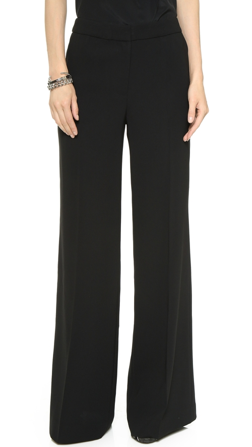 Rupert Wide Leg Pants by Rachel Zoe in Elementary - Season 4 Episode 1
