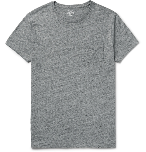 Flagstone Mélange Knitted T-Shirt by J.Crew in The Intern