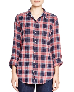Plaid Button-Down Shirt by 4Our Dreamers in Deadpool