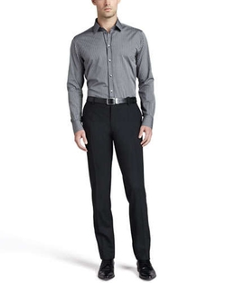 Flat-Front Wool Pants by Dolce & Gabbana in Ballers