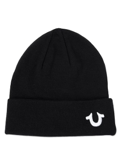 Knit Cotton Watchcap Beanie Hat by True Religion in Barely Lethal