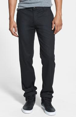 Modern Stretch Cotton Blend Chinos by Volcom in Project Almanac