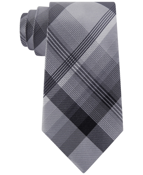 Instinct Plaid Classic Tie by Geoffrey Beene in The Purge: Election Year