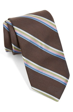 Seashore Stripe Silk & Cotton Tie by Ted Baker London in Confessions of a Shopaholic
