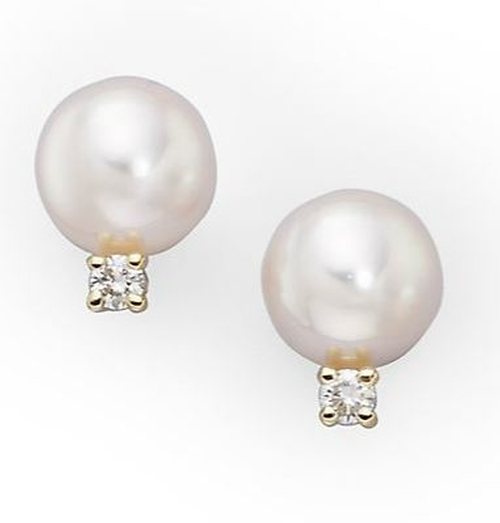 Cultured Akoya Pearl Earrings by Mikimoto in Suicide Squad