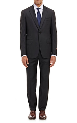 Striped Gregory Two-Button Suit by Isaia in Billions