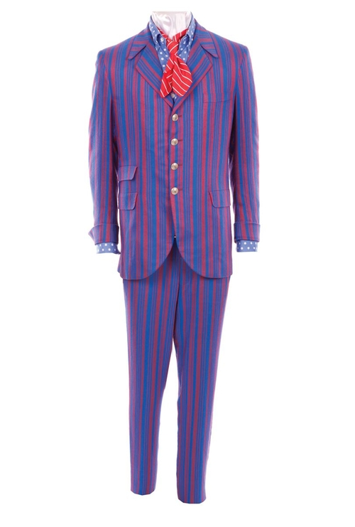 Custom Made Vertical-Striped Suit by Deena Appel (Costume Designer) in Austin Powers in Goldmember