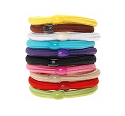 Solid Stretch Ponytail Holder Pack by L. Erickson in Sisters