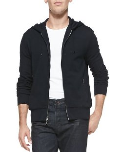 Hooded Zip-Front Sweatshirt by Ralph Lauren Black Label	 in That Awkward Moment
