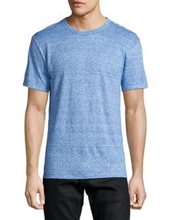 Fine-Stripe Short-Sleeve Linen Blue Tee by Alexander Wang in Jurassic World