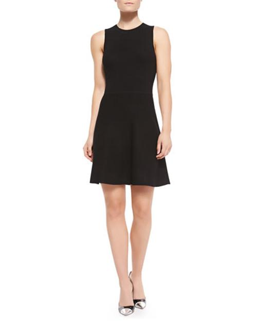 Prosecco Knit Sleeveless Flared Dress by Theory in The Disappearance of Eleanor Rigby