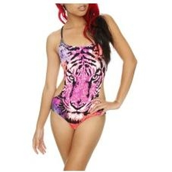 Single Tiger Face Monokini Swimsuit by Animal Print Essentials in Spring Breakers