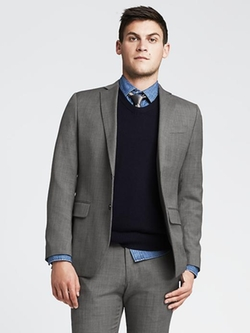 Wool Suit Jacket by Banana-Republic in Elementary