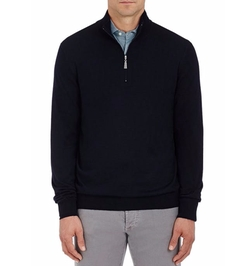 Wool Half-Zip Sweater by Barneys New York in Daddy's Home 2