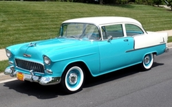 1955 Bel Air Coupe Car by Chevrolet in Life