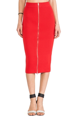 2 Way Zip Long Skirt by Alexander Wang in Empire