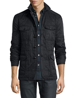 Quilted Button-Down Utility Jacket by John Varvatos Star USA in The Good Wife