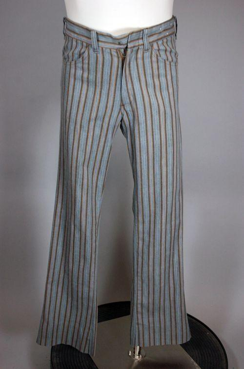 Bellbottoms Flare Leg Trousers Stripes by Viva Vintage clothing in Anchorman 2: The Legend Continues