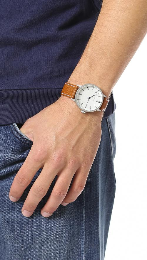 Watch with Leather Band by Tsovet in Ted