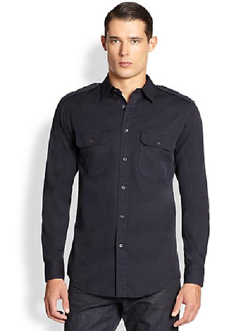 Victoria Military Sportshirt by Ralph Lauren Black Label in Sabotage