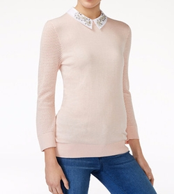 Embellished Collar Sweater by Maison Jules in Riverdale