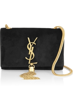 Cassandre Small Suede Shoulder Bag by Saint Laurent in Keeping Up With The Kardashians