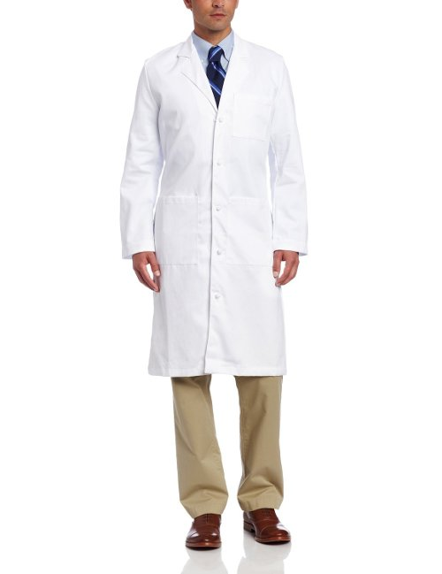 Men's Full-Length Lab Coat by Landau in Shutter Island