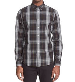 Extra Trim Fit Plaid Sport Shirt by PS Paul Smith in New Girl