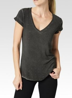 Charlie Studded Jersey Tee by Paige Denim in Arrow