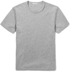 Crew-Neck Cotton-Jersey T-Shirt by James Perse in Cut Bank