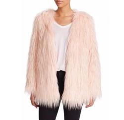 Rella Faux Fur Coat by Tart in Scream Queens