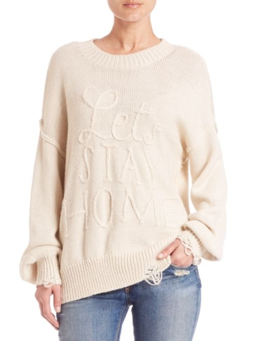Let's Stay Home Knit Sweater by Wildfox in Mistresses - Season 4 Episode 5