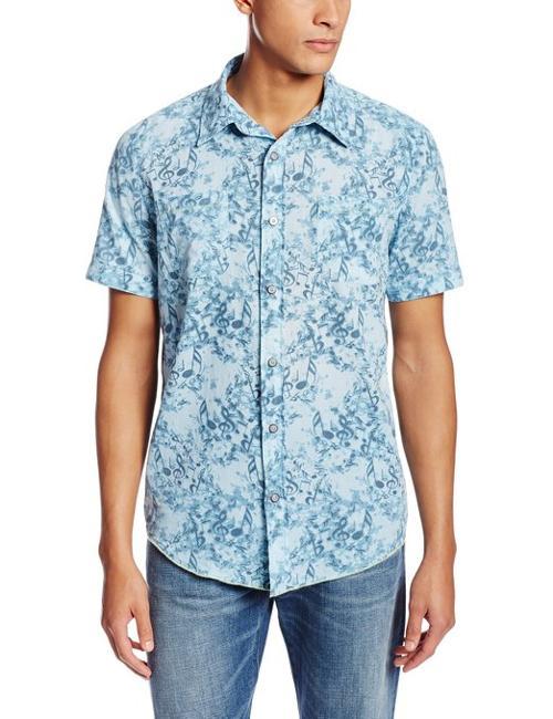 Men's Short Sleeve Notes Print Shirt by Margaritaville in Pain & Gain