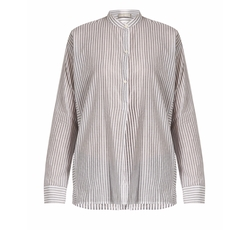 Stand-Collar Striped Cotton Shirt by Vince in Designated Survivor