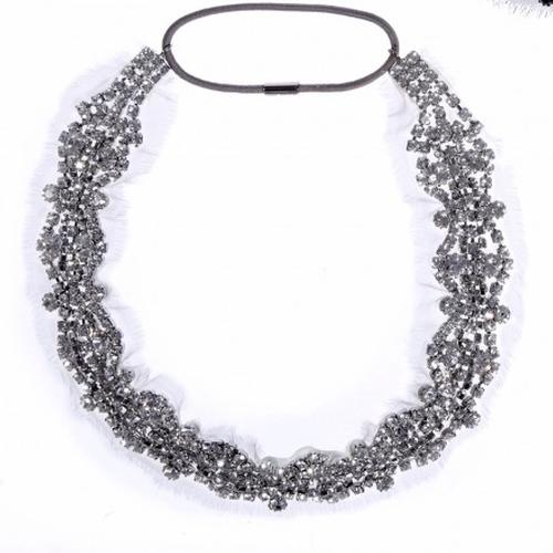 Encrusted Crystals On Silk Chiffon Headwrap by Jennifer Behr in Keeping Up With The Kardashians - Season 11 Episode 12