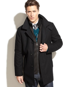 Eliot Wool-Blend Over Coat by Kenneth Cole New York in The Blacklist