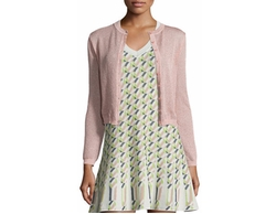 Solid Metallic Mesh Cardigan by M Missoni in Fist Fight
