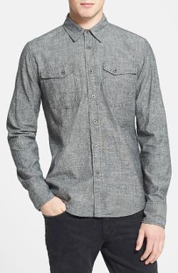 Nudie Organic Chambray Shirt by Nudie Jeans in Interstellar