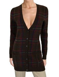 Women's Button Front Plaid Cardigan by Ralph Lauren in If I Stay