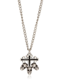 Cross & Skull Pendant Necklace by Richmond in Ride Along 2