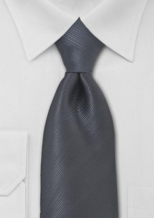 Solid Dark Gray Necktie by Bows N Ties in Transcendence