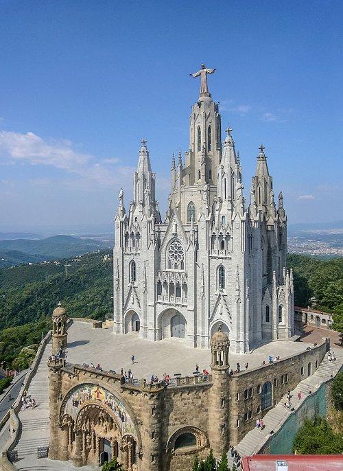 Sagrat Cor (Temple of the Sacred Heart of Jesus) Barcelona, Spain in The Gunman