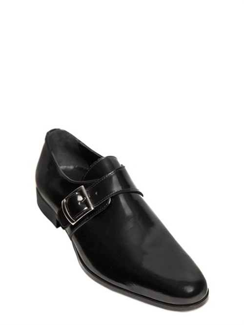 Brushed Leather Monk Strap Shoes by Dino Draghi in Elementary - Season 4 Episode 8