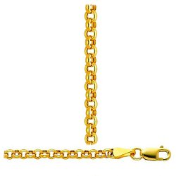 Italian Hollow Rolo Chain Necklace by Trust Jewelry in Get Hard