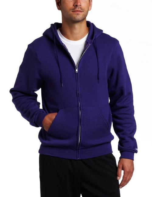 Men's Training Fleece Zip Hoodie by Soffe in New Year's Eve